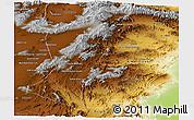 Physical Panoramic Map of Paktia
