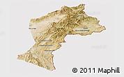 Satellite Panoramic Map of Paktia, cropped outside