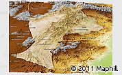 Satellite Panoramic Map of Paktia, physical outside