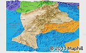 Satellite Panoramic Map of Paktia, political outside