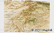Satellite Panoramic Map of Paktia
