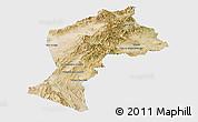 Satellite Panoramic Map of Paktia, single color outside