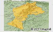 Savanna Style Panoramic Map of Paktia