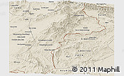 Shaded Relief Panoramic Map of Paktia
