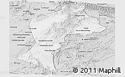 Silver Style Panoramic Map of Paktia