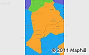 Political Simple Map of Paktia