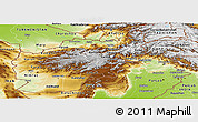 Physical Panoramic Map of Afghanistan