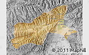 Satellite Map of Parvan, desaturated