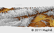 Physical Panoramic Map of Parvan