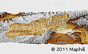 Satellite Panoramic Map of Parvan, physical outside