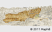 Satellite Panoramic Map of Parvan, shaded relief outside