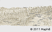 Shaded Relief Panoramic Map of Parvan