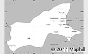 Gray Simple Map of Parvan