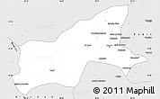 Silver Style Simple Map of Parvan