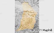 Satellite Map of Samangan, desaturated