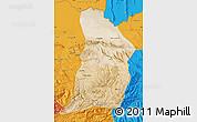 Satellite Map of Samangan, political outside