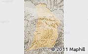 Satellite Map of Samangan, semi-desaturated