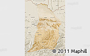 Satellite Map of Samangan, shaded relief outside