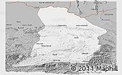 Gray Panoramic Map of Samangan