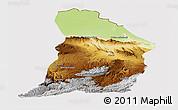 Physical Panoramic Map of Samangan, cropped outside