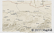 Shaded Relief Panoramic Map of Samangan