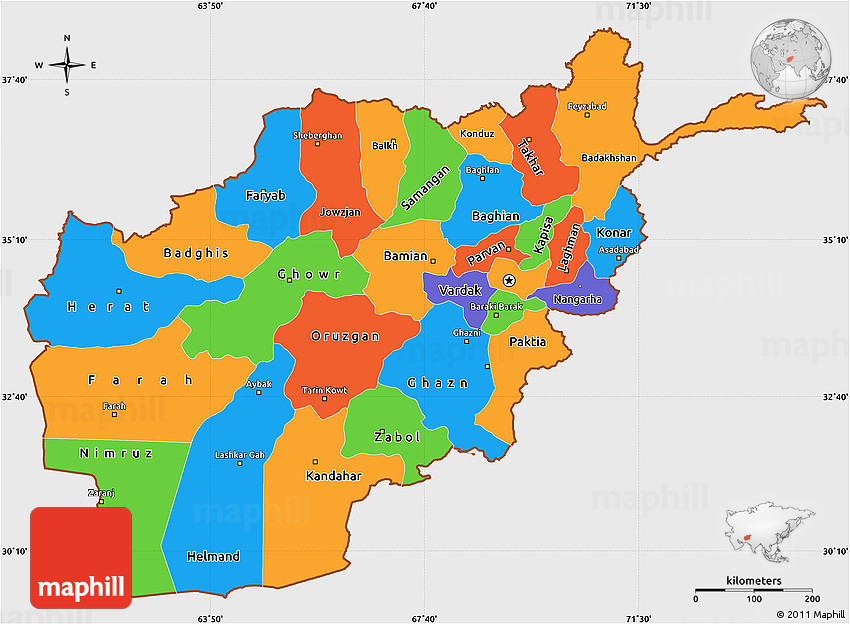 Map of afghanistan detailed political map of afghanistan ezilon political simple map of afghanistan single color outside afghanistan political map gumiabroncs Images