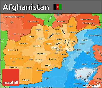 Free Political Shades Simple Map Of Afghanistan - Afghanistan political map