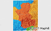 Political 3D Map of Takhar
