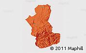 Political 3D Map of Takhar, single color outside