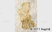 Satellite Map of Takhar, lighten