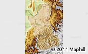 Satellite Map of Takhar, physical outside