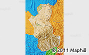 Satellite Map of Takhar, political outside