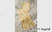 Satellite Map of Takhar, semi-desaturated