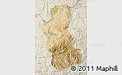 Satellite Map of Takhar, shaded relief outside