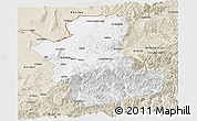 Classic Style Panoramic Map of Takhar