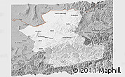 Gray Panoramic Map of Takhar