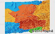 Political Panoramic Map of Takhar