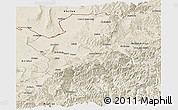 Shaded Relief Panoramic Map of Takhar
