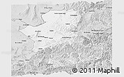 Silver Style Panoramic Map of Takhar