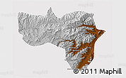 Physical 3D Map of Vardak, cropped outside
