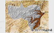 Physical 3D Map of Vardak, satellite outside