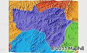 Political 3D Map of Vardak