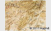 Satellite 3D Map of Vardak