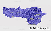 Political Panoramic Map of Vardak, cropped outside