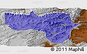 Political Panoramic Map of Vardak, physical outside