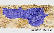Political Panoramic Map of Vardak, satellite outside