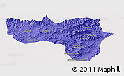 Political Panoramic Map of Vardak, single color outside