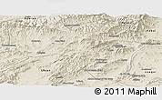 Shaded Relief Panoramic Map of Vardak