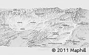Silver Style Panoramic Map of Vardak