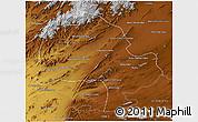 Physical 3D Map of Zabol